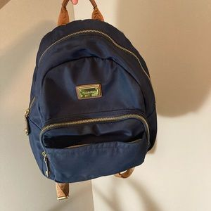 navy blue backpack purse